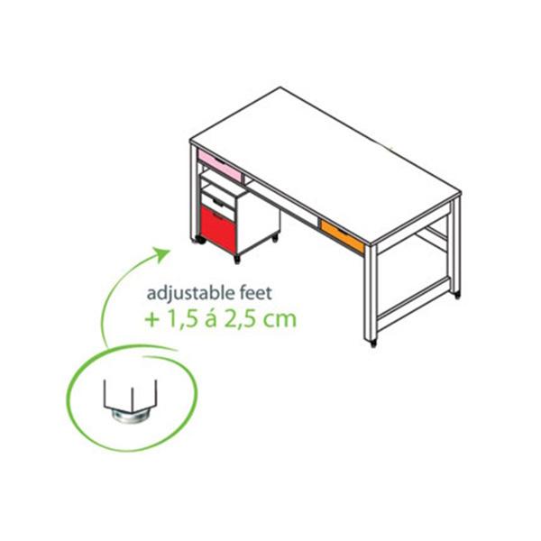 bopita h henverstellbare f e f r kinderschreibtisch mix match select your own dannenfelser. Black Bedroom Furniture Sets. Home Design Ideas