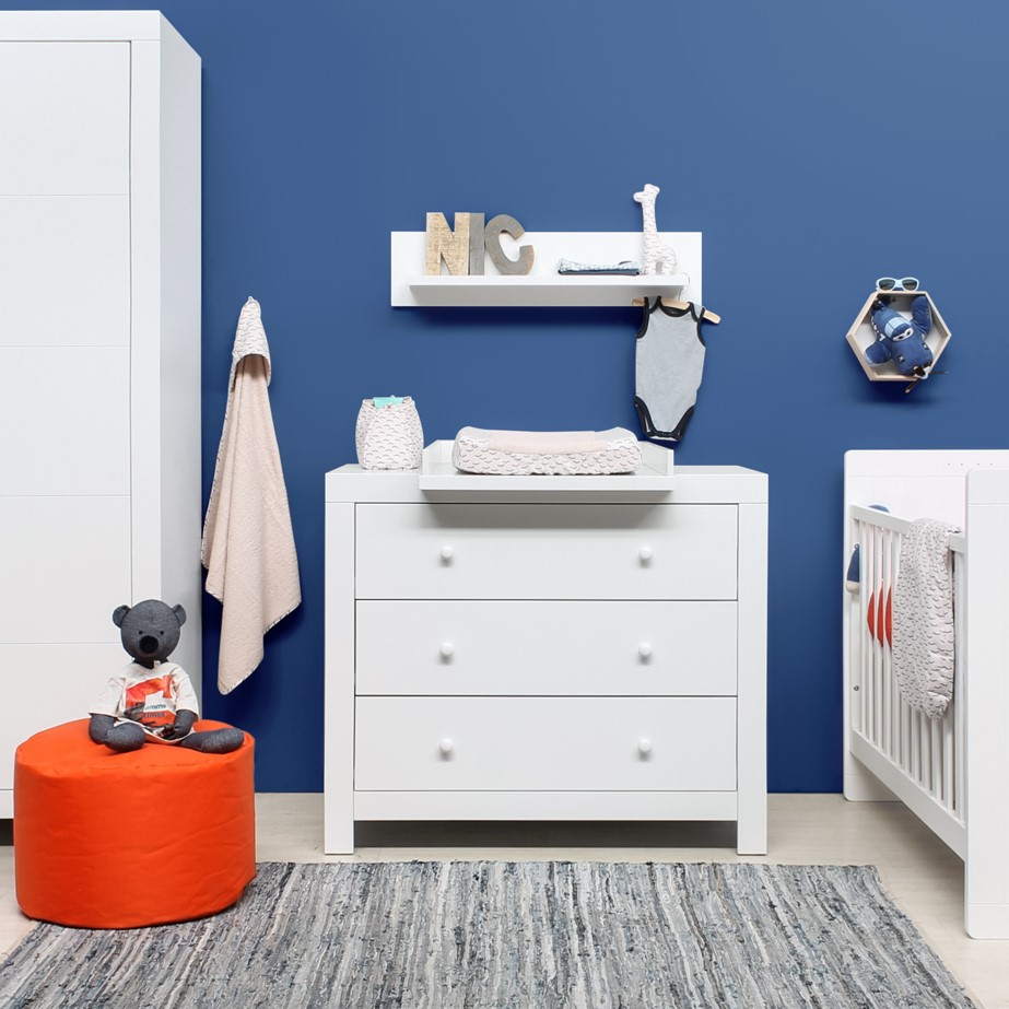 bopita kommode wickelkommode hugo 3 schubladen weiss dannenfelser kinderm bel. Black Bedroom Furniture Sets. Home Design Ideas