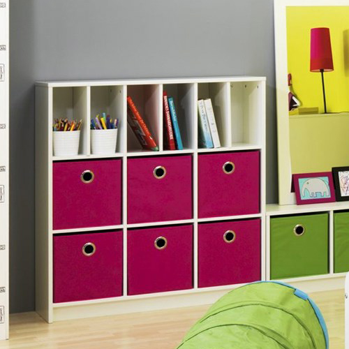 kinderregal trixx wei regal mit 9 f chern dannenfelser. Black Bedroom Furniture Sets. Home Design Ideas