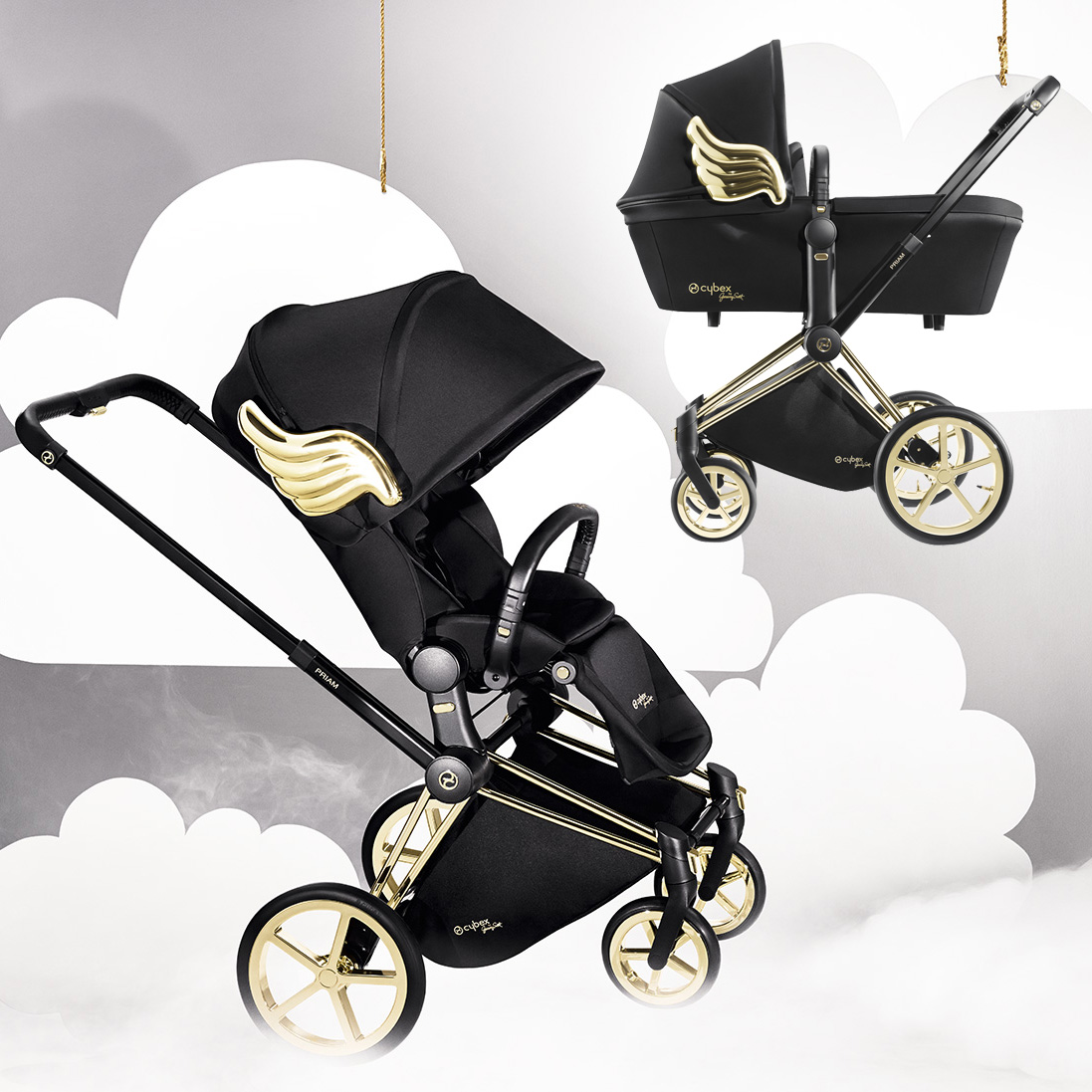 cybex kinderwagen priam jeremy scott wings sonder edition dannenfelser kinderm bel. Black Bedroom Furniture Sets. Home Design Ideas