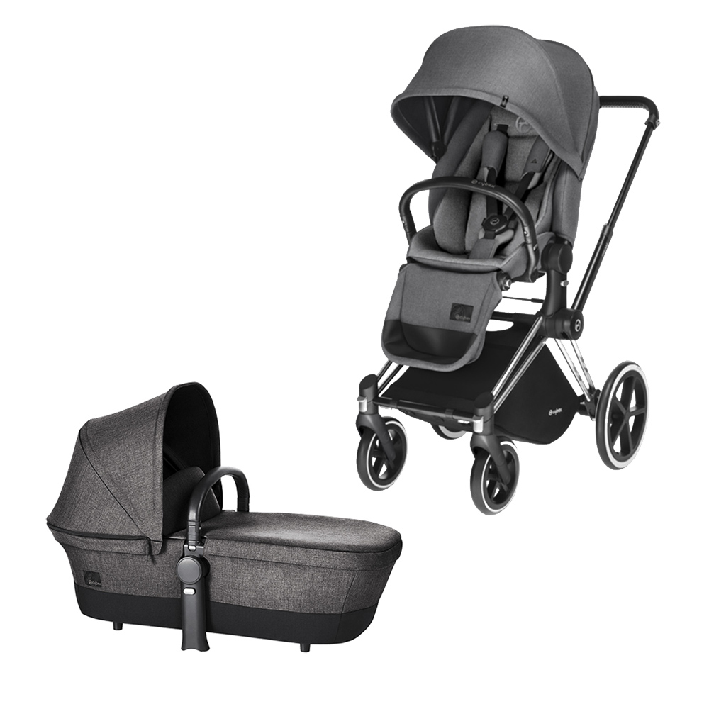 cybex kinderwagen priam gestell chrome radset trekking aufsatz lux sitz manhattan grey. Black Bedroom Furniture Sets. Home Design Ideas