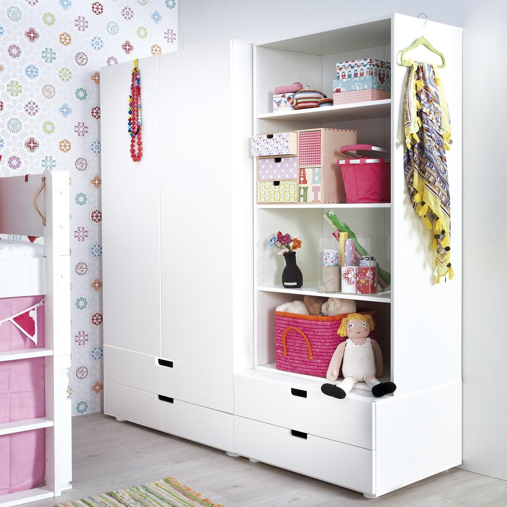 Kindermöbel schrank  Schranksystem und Regalsystem FRIEDA, weiß lackiert, Holz ...