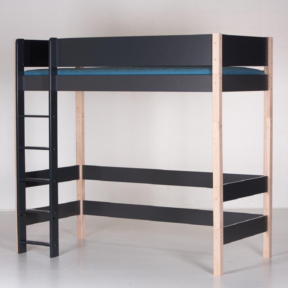 manis h hochbett gefion mit 2 betten 90x200cm h he 192cm antrazith natur dannenfelser. Black Bedroom Furniture Sets. Home Design Ideas