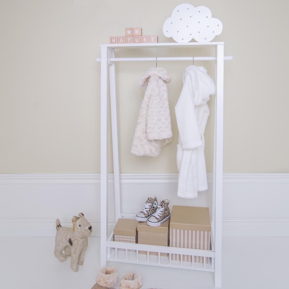 kindergarderobe kleiderst nder holz wei 65x35x116cm von. Black Bedroom Furniture Sets. Home Design Ideas