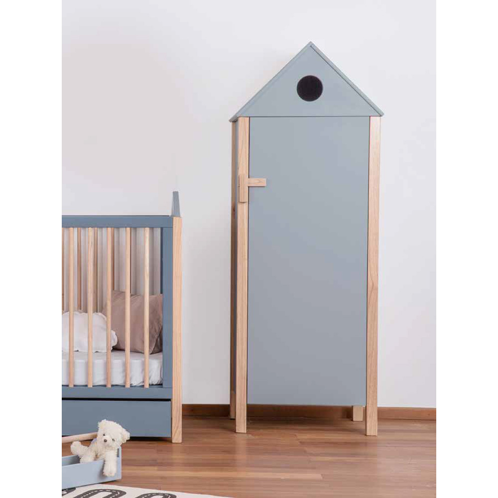 schrank hausform nino blau 1 t rig dannenfelser kinderm bel. Black Bedroom Furniture Sets. Home Design Ideas