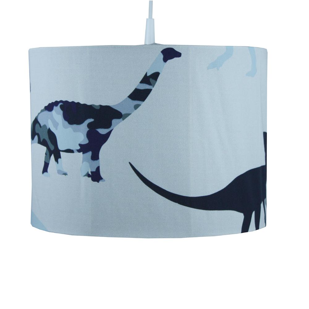 Kinderzimmerlampe / Hängelampe DINO, cremeweiß-blau, Durchmesser ...