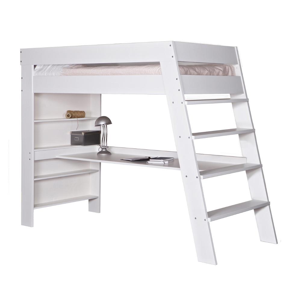 hochbett wei holz wohnzimmerm bel. Black Bedroom Furniture Sets. Home Design Ideas