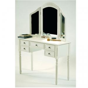 gro er schminktisch frisiertisch 3 spiegel weiss g nstig online kaufen dannenfelser. Black Bedroom Furniture Sets. Home Design Ideas