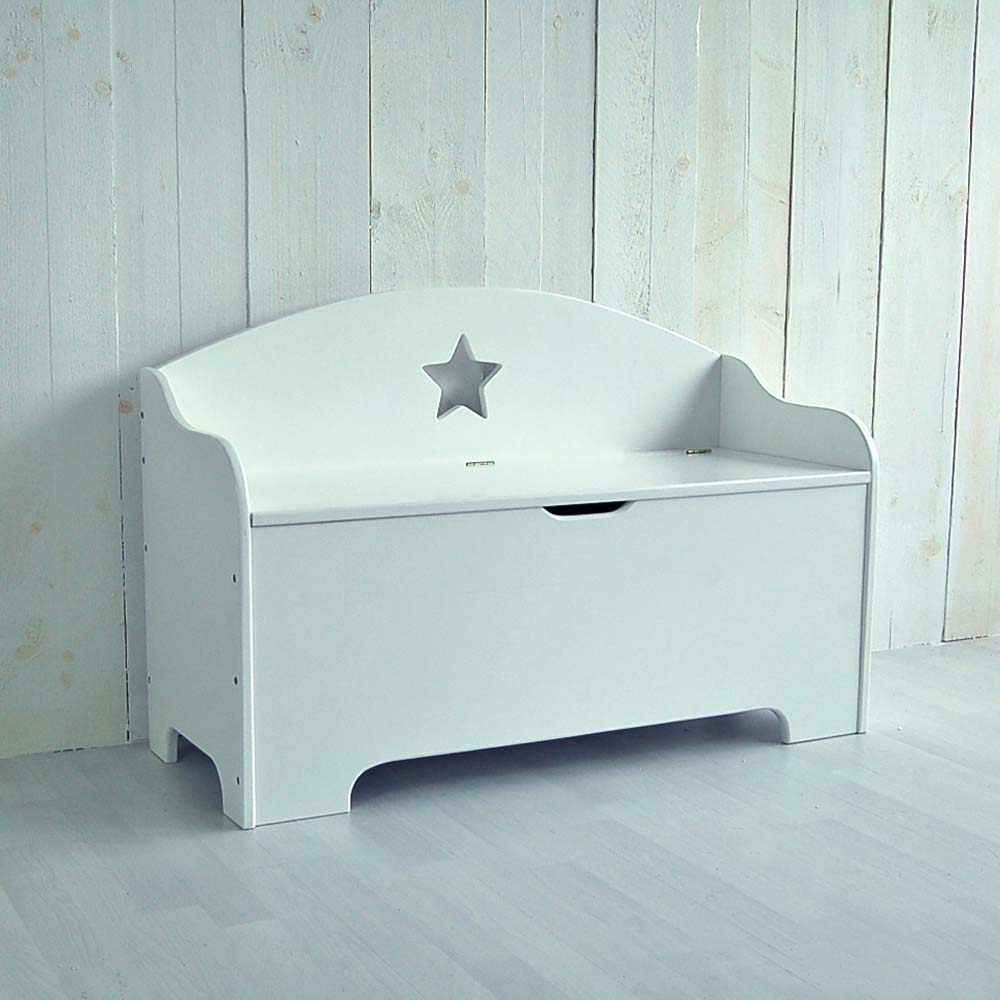 kinderbank sitzbank star wei mit stauraum 100cm g nstig online kaufen dannenfelser. Black Bedroom Furniture Sets. Home Design Ideas