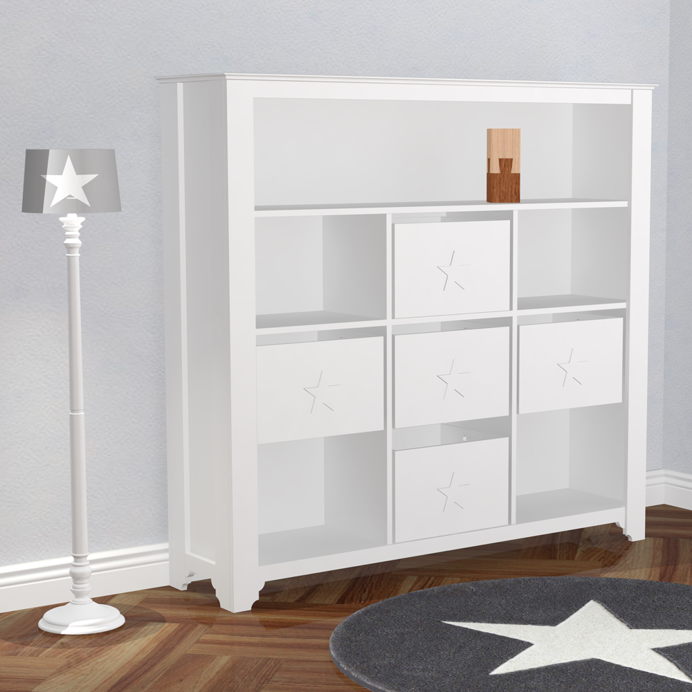 Kinderregal / Bücherregal PRETTY inkl. 3 Boxen + Holz ...