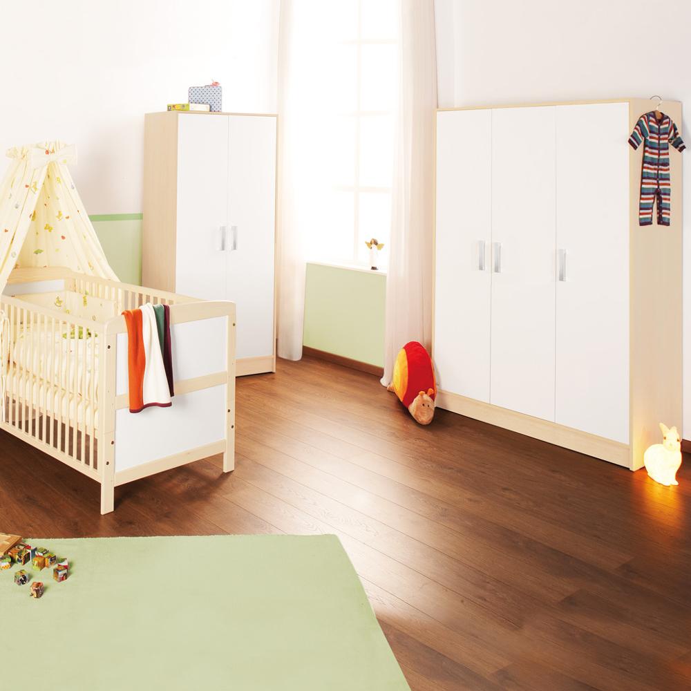 kleiderschrank florian pinolino 3 t rig ahorn und cremewei breite 118cm dannenfelser. Black Bedroom Furniture Sets. Home Design Ideas