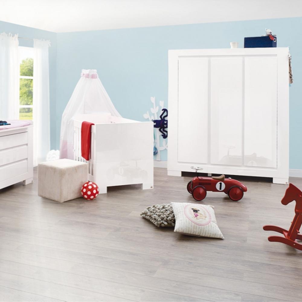Kleiderschrank weiß hochglanz 3 türig  Kleiderschrank SKY, Pinolino, 3-türig, weiß Hochglanz, Softclose ...