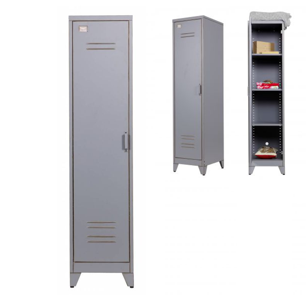 kleiderschrank spind max 1 t rig metall grau g nstig online kaufen dannenfelser kinderm bel. Black Bedroom Furniture Sets. Home Design Ideas