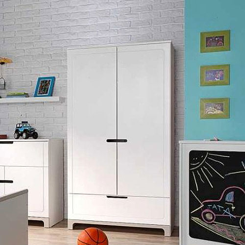 kinderkleiderschrank mini pinie massivholz mdf wei 2 t rig softclose system dannenfelser. Black Bedroom Furniture Sets. Home Design Ideas