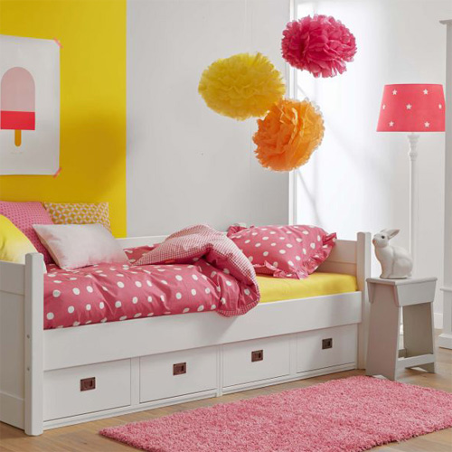kojenbett kinderbett anna mit 4 schubladen massivholz wei 90x200cm g nstig online kaufen. Black Bedroom Furniture Sets. Home Design Ideas