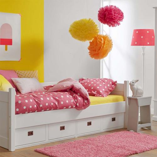 kojenbett kinderbett anna mit 4 schubladen massivholz wei 90x200cm dannenfelser kinderm bel. Black Bedroom Furniture Sets. Home Design Ideas