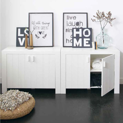 sideboard kommode miami kiefer geb rstet wei 2 t rig. Black Bedroom Furniture Sets. Home Design Ideas