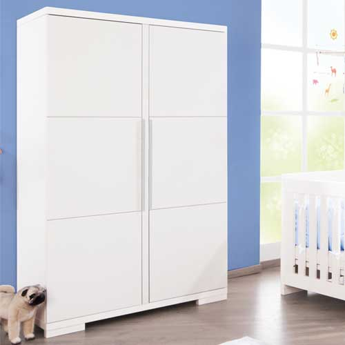 kinderkleiderschrank kleiderschrank polar edelmatt wei 2 t rig g nstig online kaufen. Black Bedroom Furniture Sets. Home Design Ideas