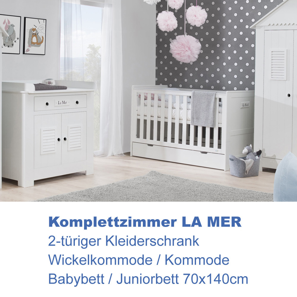 babyzimmer wei komplett. Black Bedroom Furniture Sets. Home Design Ideas