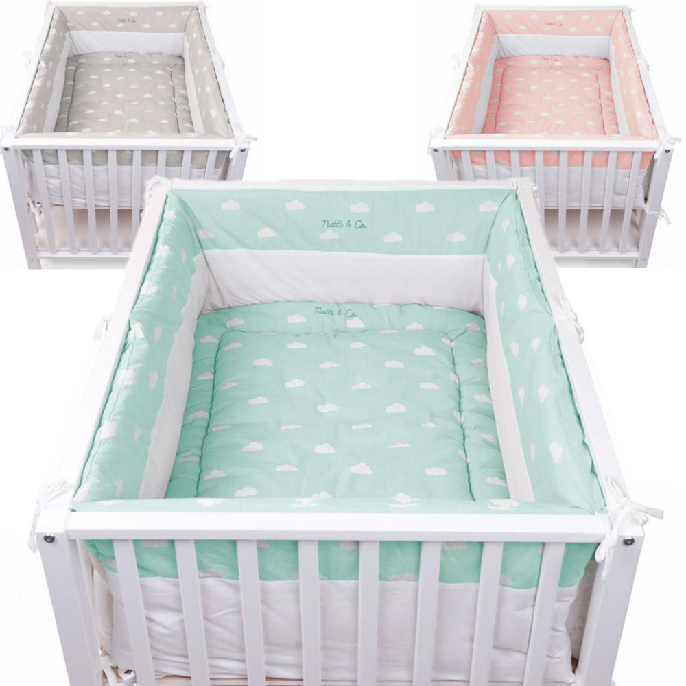 laufgitter nestchen snoozy mit w lkchen 320x35cm dannenfelser. Black Bedroom Furniture Sets. Home Design Ideas