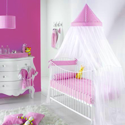 betthimmel baldachin laura rose rosa wei rund dannenfelser kinderm bel. Black Bedroom Furniture Sets. Home Design Ideas
