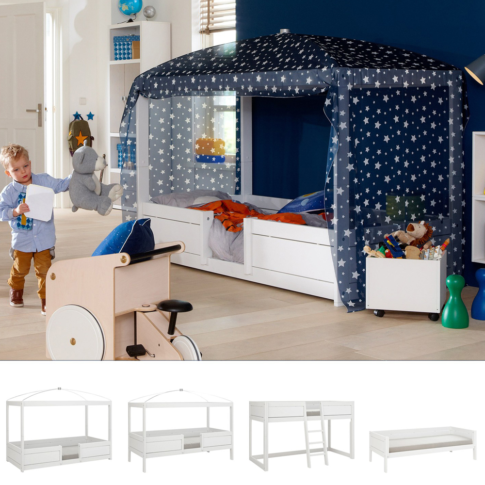 lifetime 4 in 1 kinderbett hochbett himmelbett. Black Bedroom Furniture Sets. Home Design Ideas