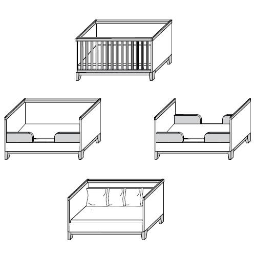 Juniorbettseite mit Rausfallschutz für Babybett JACOB | Dannenfelser ...