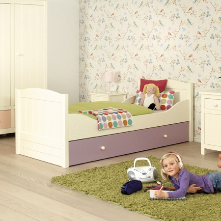 jugendbett kinderbett annabelle 90x200cm creme vanille g nstig online kaufen. Black Bedroom Furniture Sets. Home Design Ideas