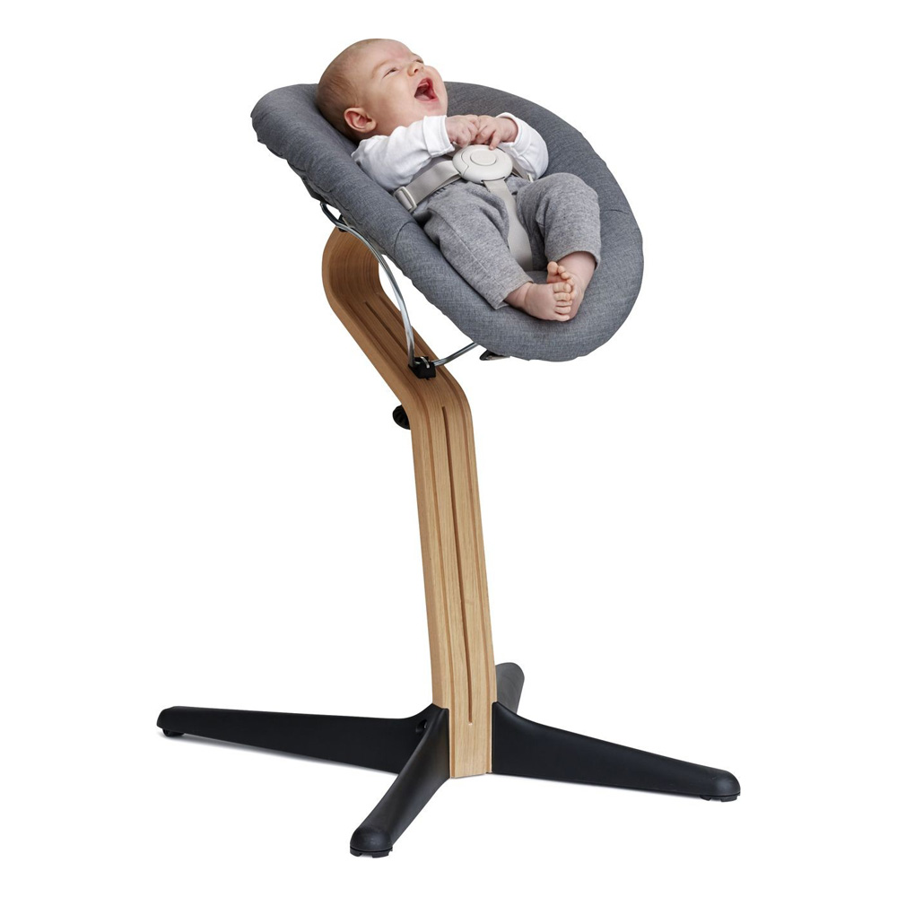 nomi hochstuhl aufsatz set baby wippe babywippe grau. Black Bedroom Furniture Sets. Home Design Ideas
