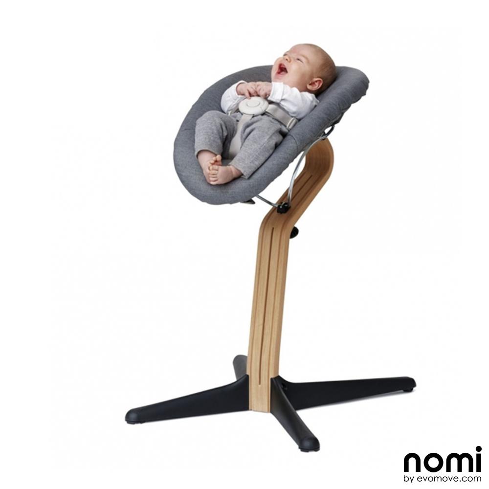 nomi hochstuhl aufsatz set baby wippe babywippe grau beige dannenfelser kinderm bel. Black Bedroom Furniture Sets. Home Design Ideas
