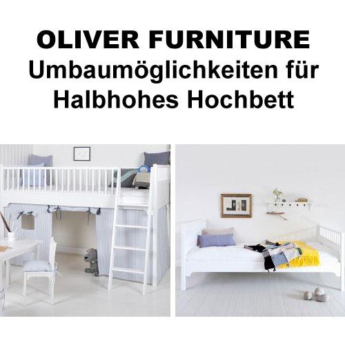 oliver furniture umbausatz f r halbhohes hochbett kids. Black Bedroom Furniture Sets. Home Design Ideas