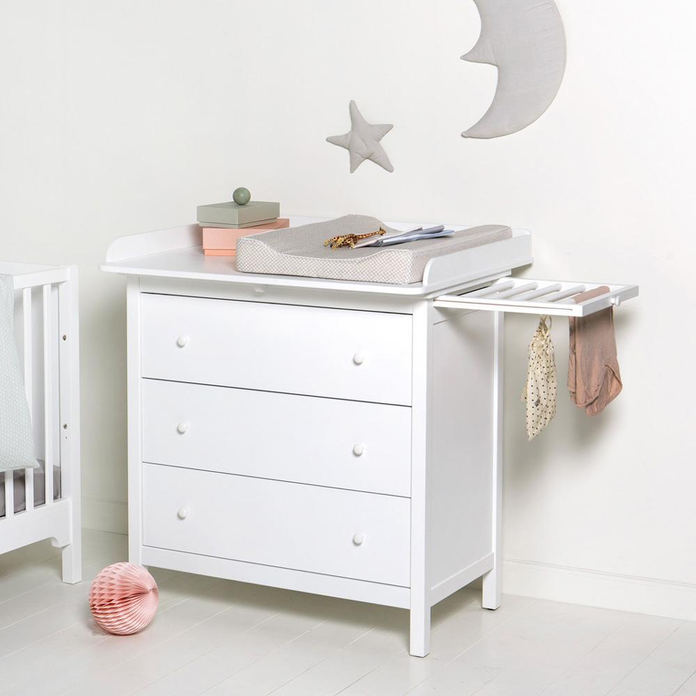 oliver furniture seaside wickelkommode wei 3 schubladen. Black Bedroom Furniture Sets. Home Design Ideas
