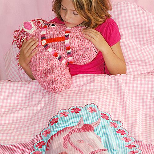 kinderbettw sche pferd 100 baumwolle 135x200 80x80cm. Black Bedroom Furniture Sets. Home Design Ideas