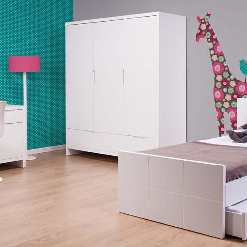 Childwood Kleiderschrank QUADRO WHITE, 3-türig | günstig online ... | {Kindermöbel günstig 29}