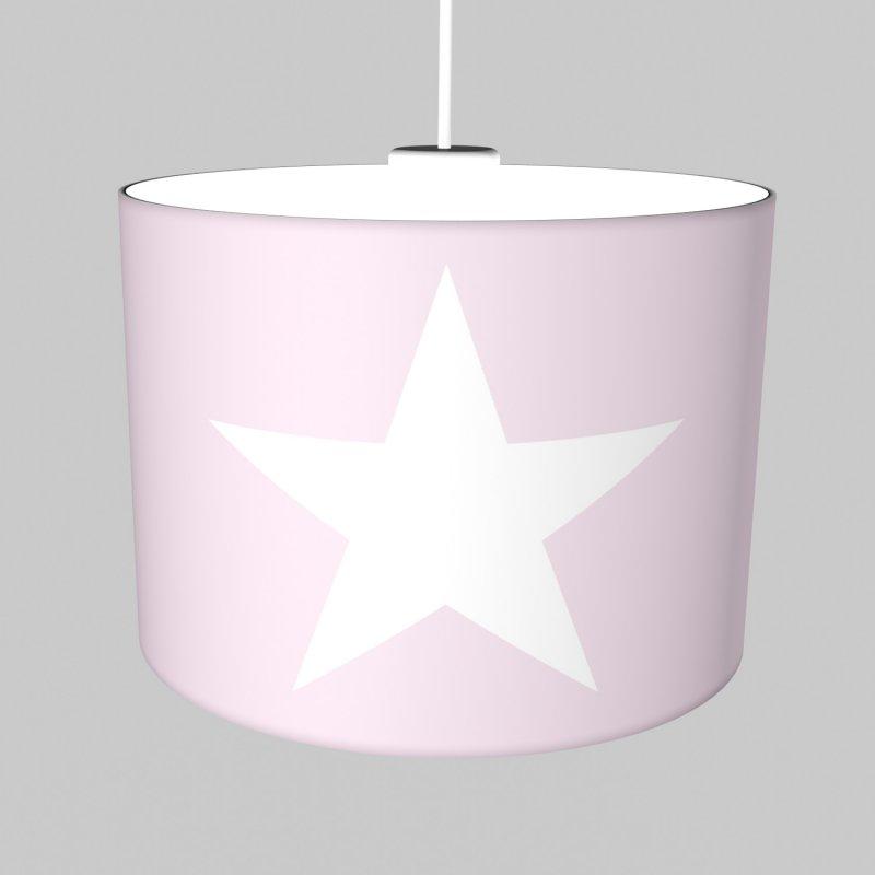 Jugendlampe Kinder Hangelampe Roomstar Stern 35cm Rosa