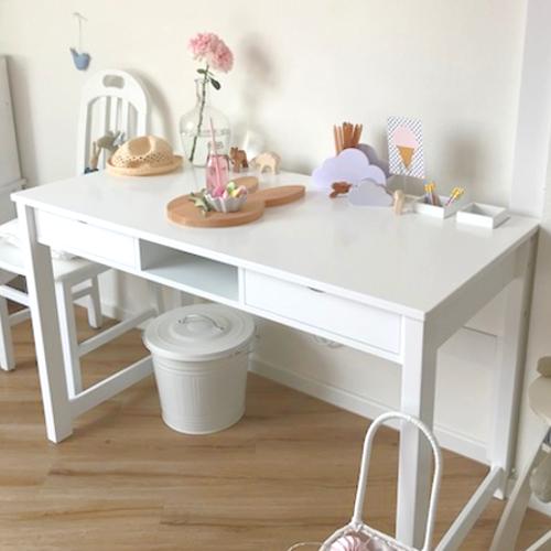 Schreibtisch Roomstar 120x60cm 2 Schubladen 1 Fach Weiss