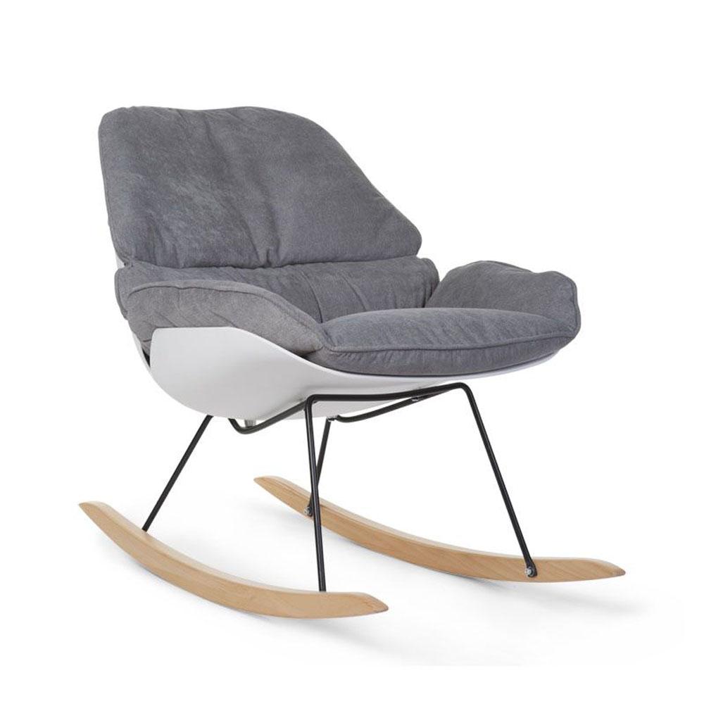 Schaukelstuhl als stillstuhl rocking lounge weis grau for Schaukelstuhl grau