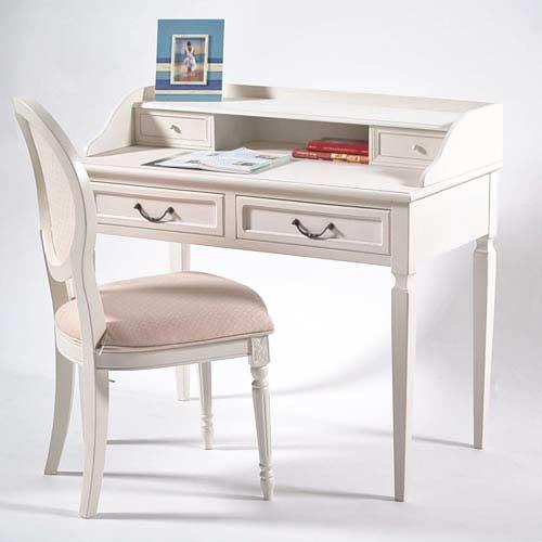 Schreibtisch weiß landhaus  lounge-zone Landhaus Schreibtisch Sekretär Tisch TOULOUS weiß 9085 ...