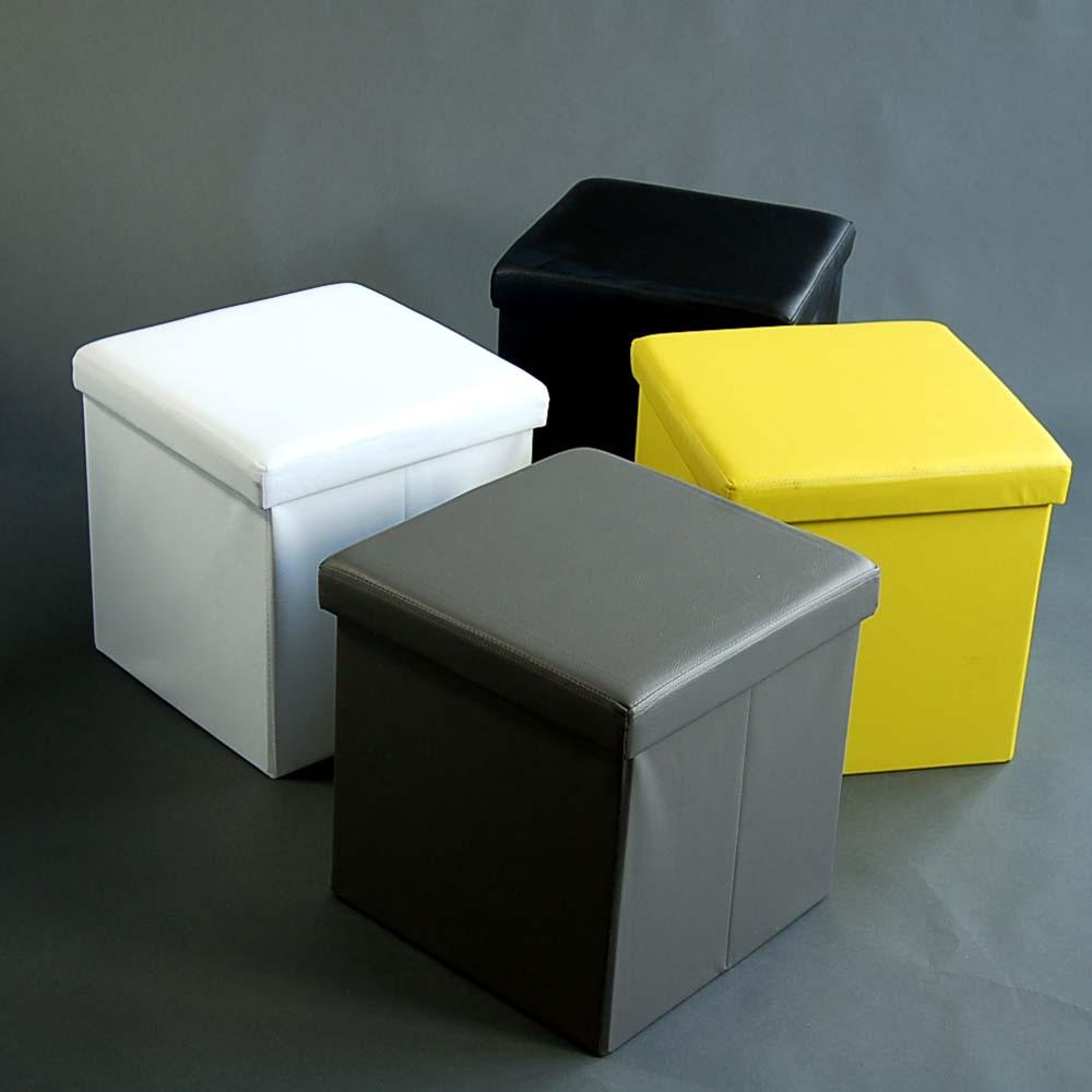 hocker und spielzeugbox sadoa mit stauraum faltbar 40x40cm dannenfelser. Black Bedroom Furniture Sets. Home Design Ideas