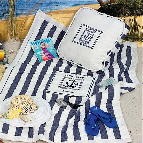 tagesdecke quilt riviera wei blau baumwolle 120x170cm dannenfelser. Black Bedroom Furniture Sets. Home Design Ideas