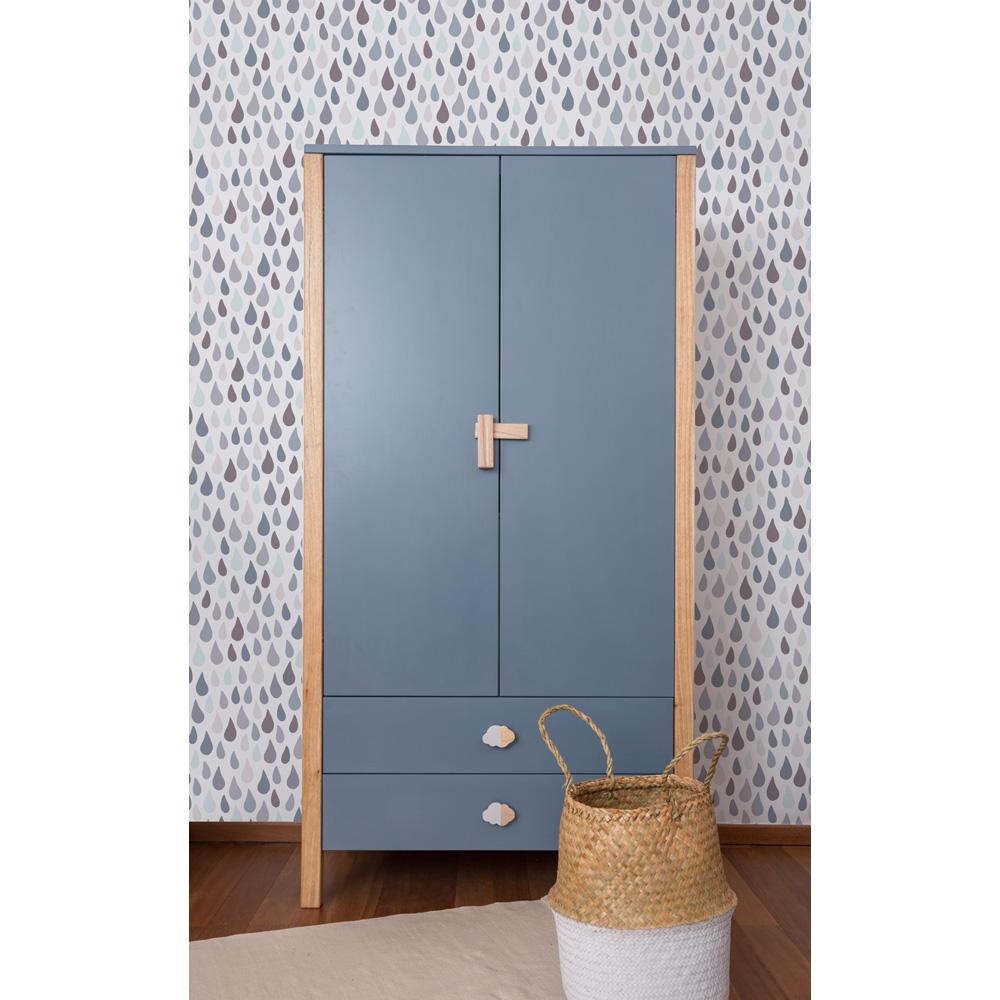 2 t riger schrank nino kleiderschrank blau 2 schubladen dannenfelser kinderm bel. Black Bedroom Furniture Sets. Home Design Ideas