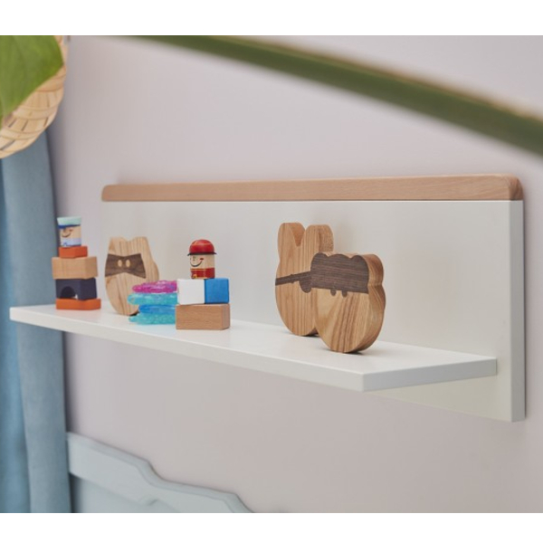 Wandregal SCANDI Kinderzimmer Hängeregal weiß - Buche ...