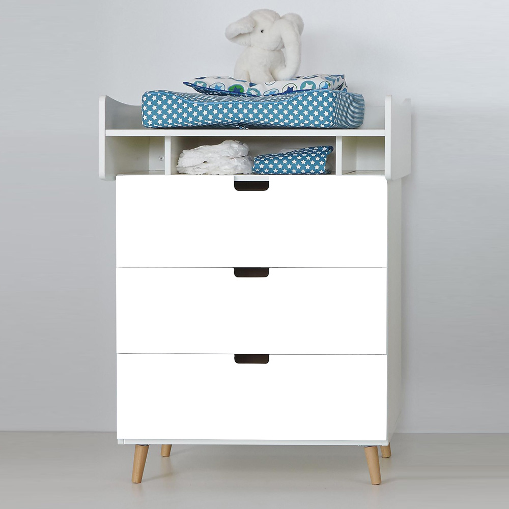 manis h wickelkommode kommode vivien wei 3 schubladen. Black Bedroom Furniture Sets. Home Design Ideas