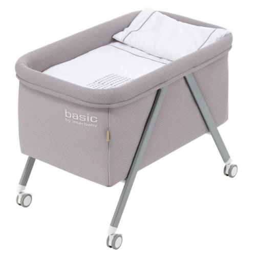 stubenwagen stubenbett babybett mora basic mesh bezug grau inkl matratze und bettzeug. Black Bedroom Furniture Sets. Home Design Ideas