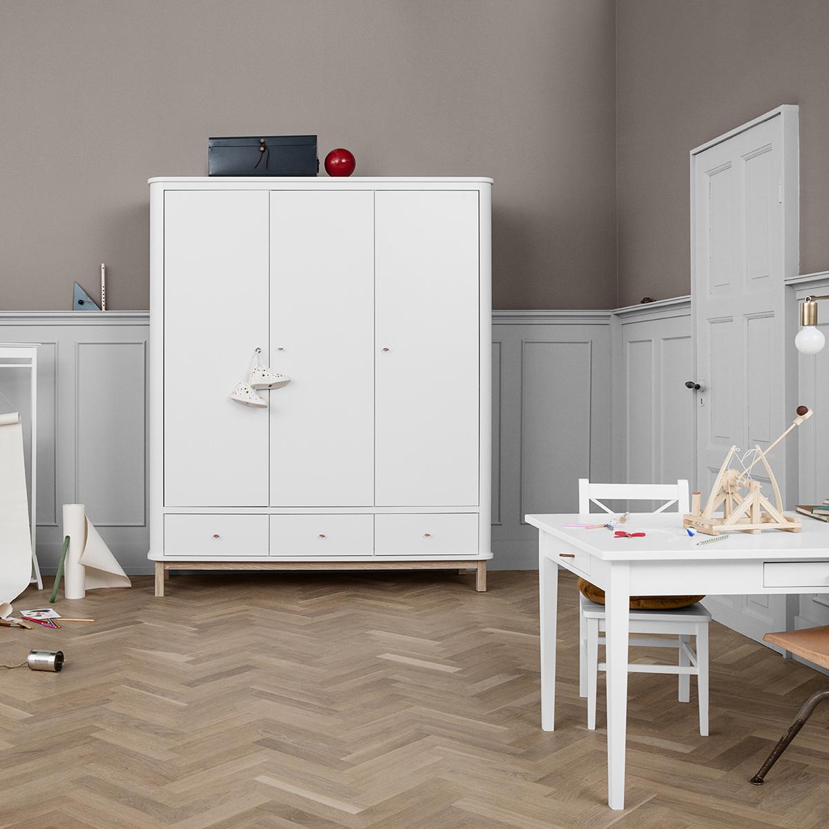 oliver furniture kleiderschrank wood collection 3 t rig. Black Bedroom Furniture Sets. Home Design Ideas