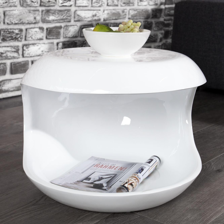 design beistelltisch nachttisch sp 5 rund hochglanz wei 45x40x45cm dannenfelser kinderm bel. Black Bedroom Furniture Sets. Home Design Ideas