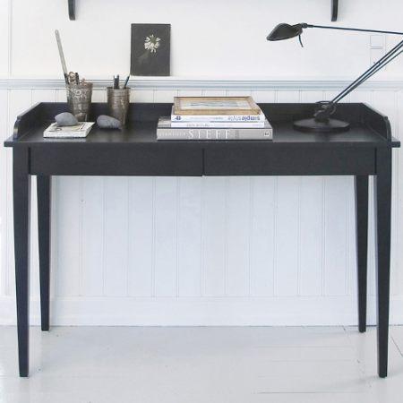 oliver furniture konsolentisch schreibtisch mit 2 schubladen schwarz 120x46cm dannenfelser. Black Bedroom Furniture Sets. Home Design Ideas