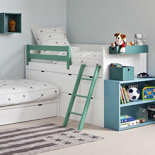 asoral eck etagenbett leo etagenbett ber eck inkl g stebett 90x200cm g nstig online kaufen. Black Bedroom Furniture Sets. Home Design Ideas