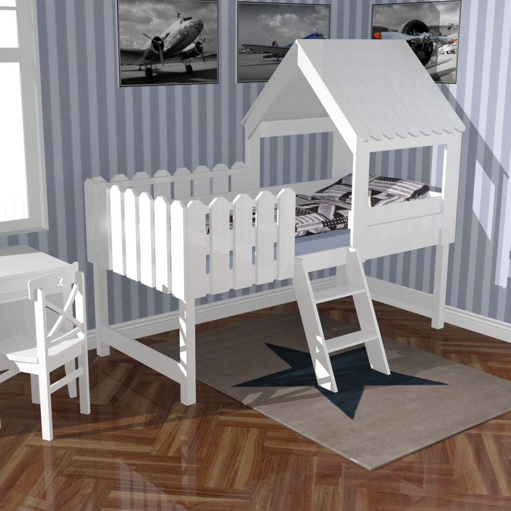 kinderbett baumhaus. Black Bedroom Furniture Sets. Home Design Ideas