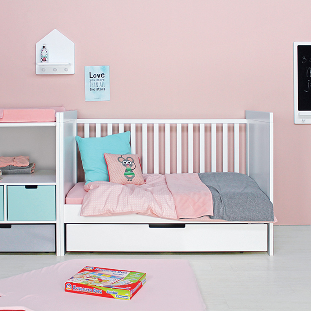bopita babybett kombi bett babyflex mix match 70x140cm umbaubar dannenfelser. Black Bedroom Furniture Sets. Home Design Ideas